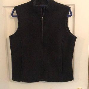 Fleece lined suede vest